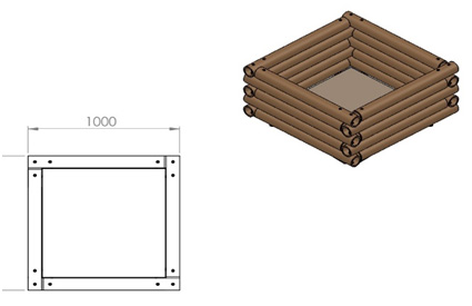Bacs en bambou standards