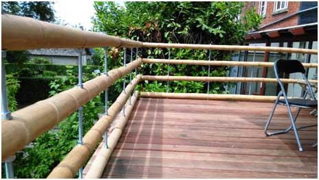 balustrade exterieure en bambou