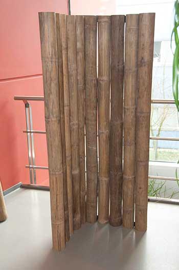 cloison en bambou