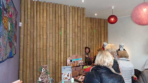 cloison interieur bambou