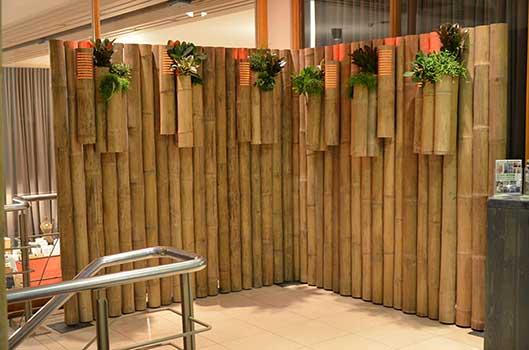 cloison vegetale interieur bambou