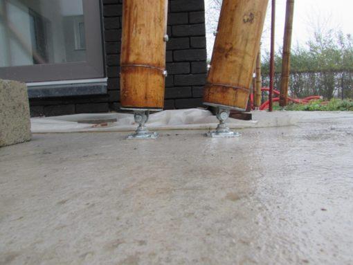 Pied rotatif pour fixation Mats de Bambou
