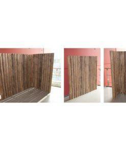 cloison et panneau de bambou